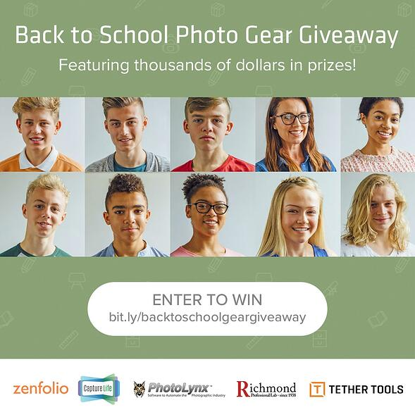CaptureLife Teams with Photography Industry Tech Leaders for Big Back to School Giveaway
