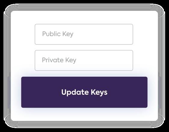 API key screen in Sezzle
