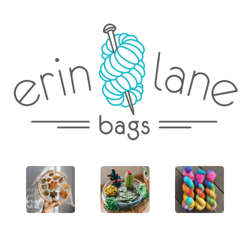 Erin Lane Bags logo with product images