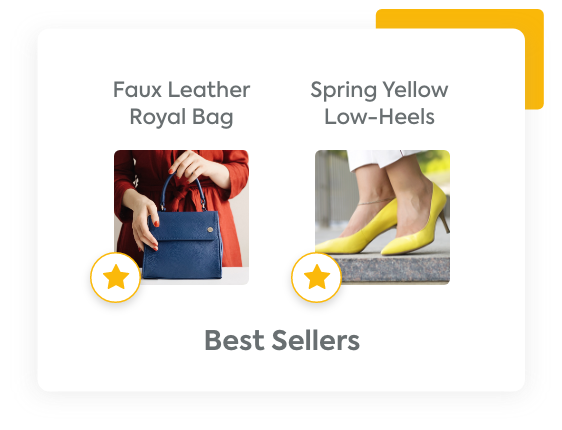 Two products that are marked as best sellers