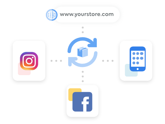 Central inventory feeding to Instagram, Facebook, your mobile app, and your website