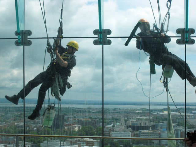 Abseiling for a Living - Pulleys at Work