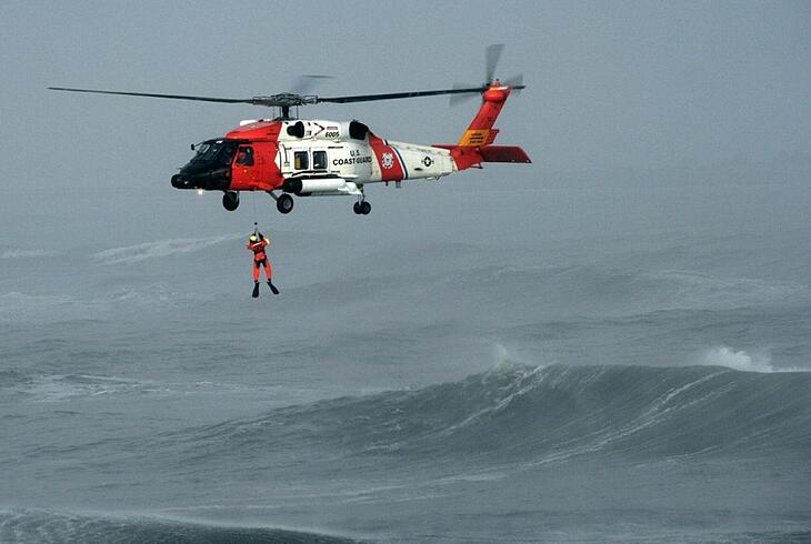 Helicopter Rescue Equipment - Pulleys at Work