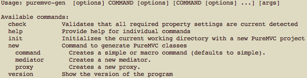 "Instructions output on command line when running ""help\"""