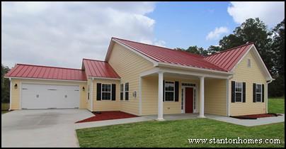 Yellow Red Grey And White Farmhouse Exterior Photos