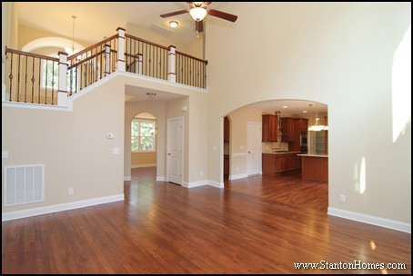 2014 custom home design debunking myths about two story for 2 story living room decorating ideas