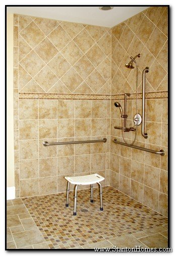 accessible bathroom shower designs wheelchair accessible homes - Handicap Accessible Bathroom Design