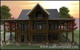Craftsman lake cottage custom home plans max fulbright for Banner elk home builders