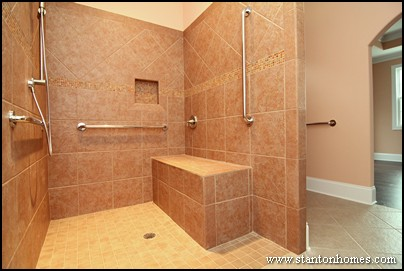 Six ideas for accessible shower design ada accessible homes for Wheelchair accessible bathroom designs