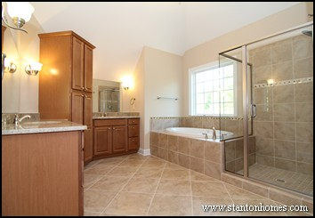 Master bath storage cabinet ideas design build homes in nc - Bathroom storage cabinets floor to ceiling ...