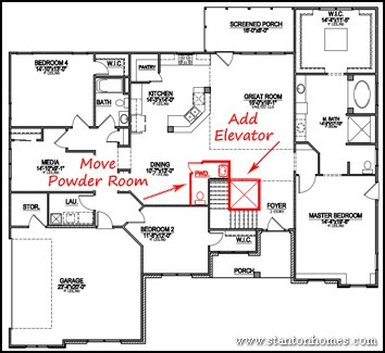 Va specially adapted housing approved floor plans for Elevator floor plan