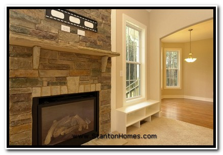 "Idea #3: 42"" Fireplace with Raised Hearth and Framed TV Area"