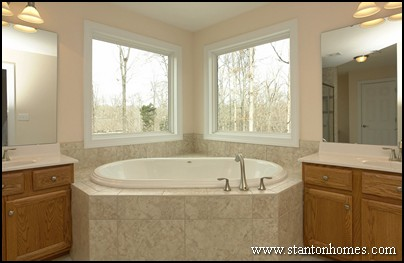 Master bath lighting