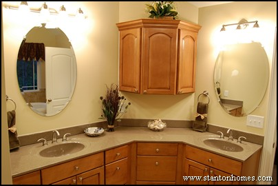 New Glass Bathroom Storage Master Bathroom Vanity With Upper Cabinets
