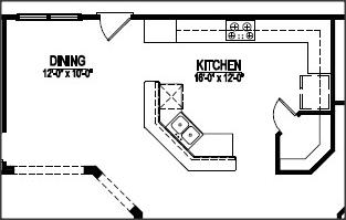 Top Corner Pantry Floor Plans With Pictures Raleigh Custom Homes - Kitchen floor plan