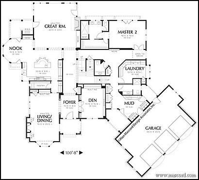 One Story House Plans With Angled Garage Slanted House Plans With ...