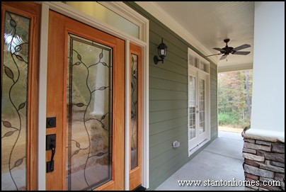 this apex new home front door style contains classic features such as a full length glass design two side transoms and an upper transom