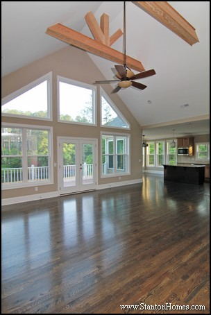 Raleigh New Homes | Wooden Beam Ceiling