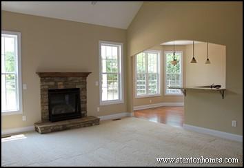 Custom home building and design blog home building tips - Open window between kitchen living room ...