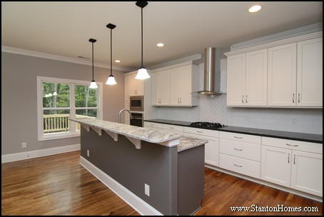 Kitchen Color Trends raleigh custom kitchen color trends: light cabinets, dark countertops