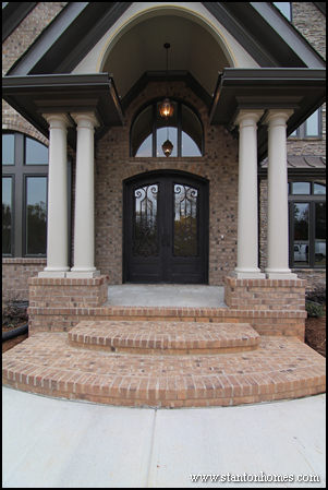 Front Entry Designs one or two front doors? dual entry design north carolina homes