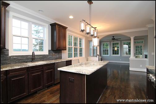 Dark cabinets with light granite best color combinations for Dark cabinets light granite