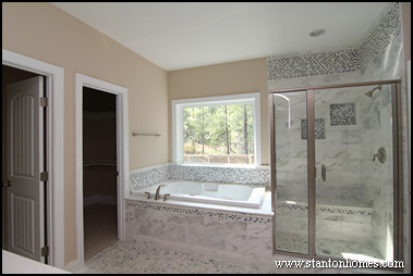 bathtub tile surrounds raleigh custom homes - Bathtub Surrounds