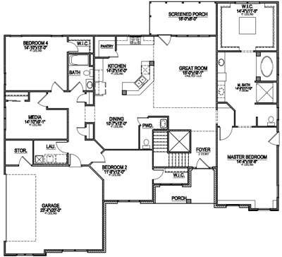 Most popular floor plans of 2014