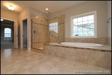 2014 master bathroom trends nc new home shower enclosure for Custom master bathroom designs