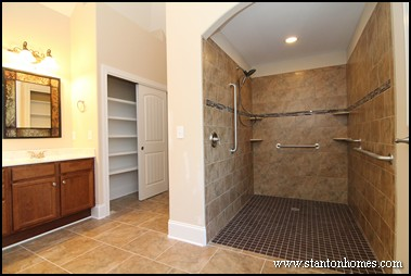 Wheelchair accessible bathroom showers for Handicap accessible home builders
