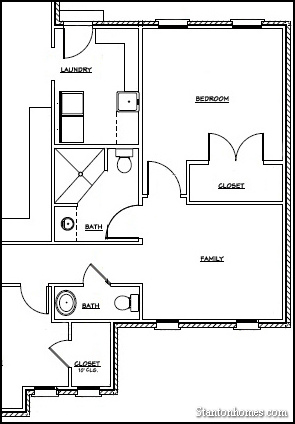 What does a raleigh mother in law suite floor plan look like for Mother in law suite plans