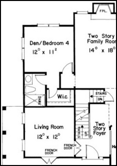 What does a raleigh mother in law suite floor plan look like for House plans with mother in law wing