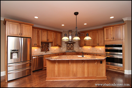 Custom home building and design blog home building tips types of kitchen islands for Triangle kitchen island designs