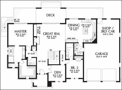 MGEwNTg2 Free 3 Car Garage Floor Plans together with 4201255945 together with One Story Floor Plans With Basements together with 05 in addition Pole Barn Plans. on workshop with living quarters plans