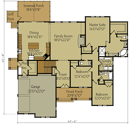One story floor plans with basement for Custom home floor plans with basement