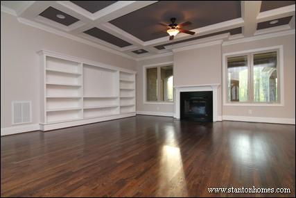Custom home building and design blog home building tips for Living room with 9 foot ceilings