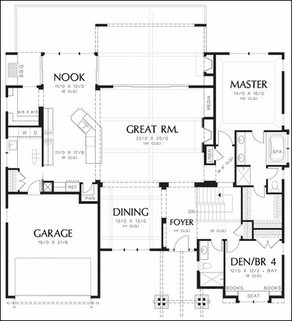 Galley Kitchen Plans galley kitchen plans. galley. home plan and house design ideas