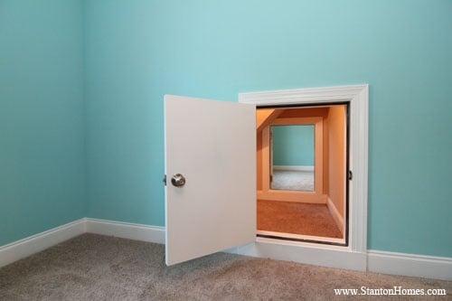 Secret Passage Floor Plan | Raleigh Custom Homes