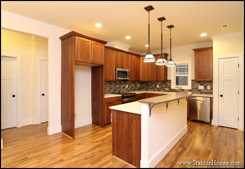 Cary NC New Homes | Kitchen Island with Seating