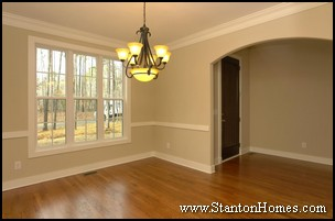 Formal dining room or office floor plan modifications for 2 story foyer conversion