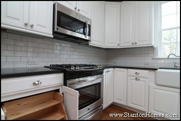 White Subway Tile Backsplash Ideas | 2012 Kitchen Design Trends