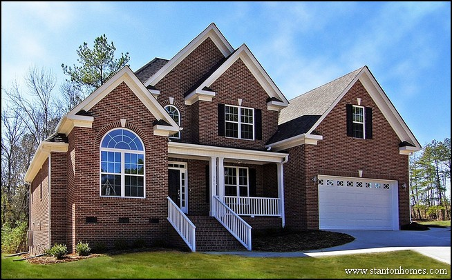 Pics for dark red brick house for Red brick home designs