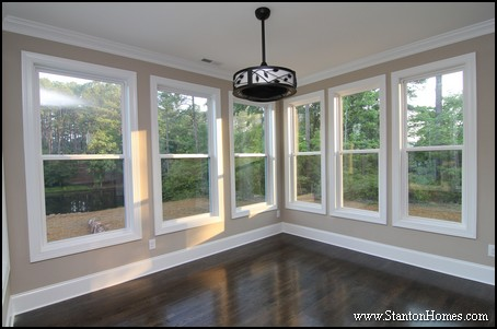 Ten creative breakfast room design ideas raleigh new homes for Converting a sunroom into a bedroom