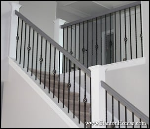 white craftsman style staircase MEMEs