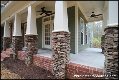 How to redesign the exterior of your custom home Brick home plans with wrap around porch