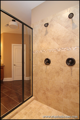 Beautiful Two Shower Heads His And Her Transitional Bathroom Angie ...