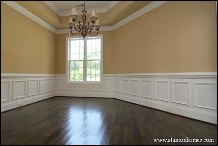 13 top wainscoting ideas raleigh new home builders for Dining room wainscoting ideas