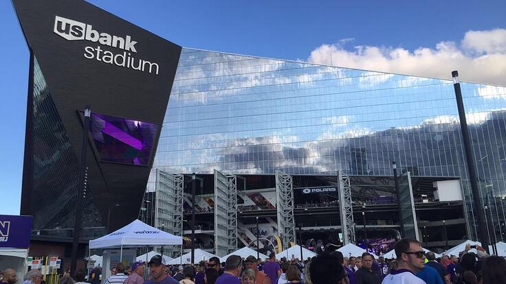 Seniors Out & About In The Twin Cities: Minnesota Vikings at the Bank