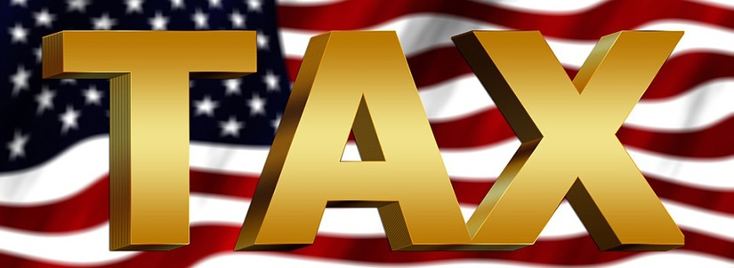 taxes and flag