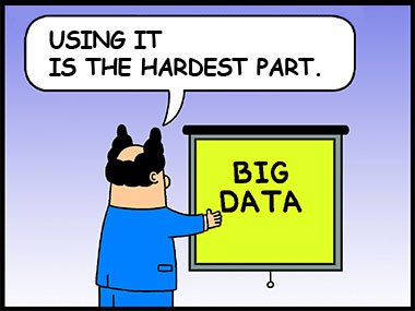 The hard part of big data is using it.